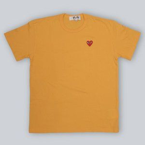Comme Des Garcons Play T-Shirt in Yellow - 2XL